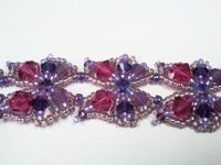 Beadwork Butterfly Bracelet Jewellery Kit with SWAROVSKI crystal Purple and Pink Tones